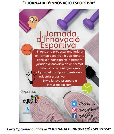"""""""I JORNADA D'INNOVACIÓ ESPORTIVA"""""""